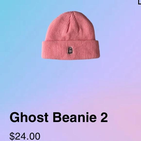 ghost logo beanie